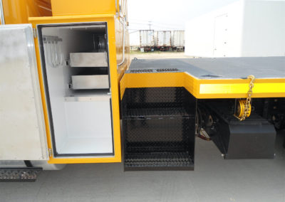 16′ Flat Deck – Driver Side Heated Storage Compartment and Integrated Step